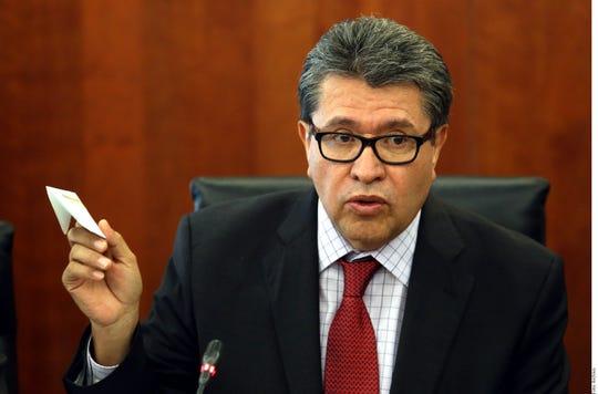 Ricardo Monreal, presidente de la Junta de Coordinación Política del Senado.