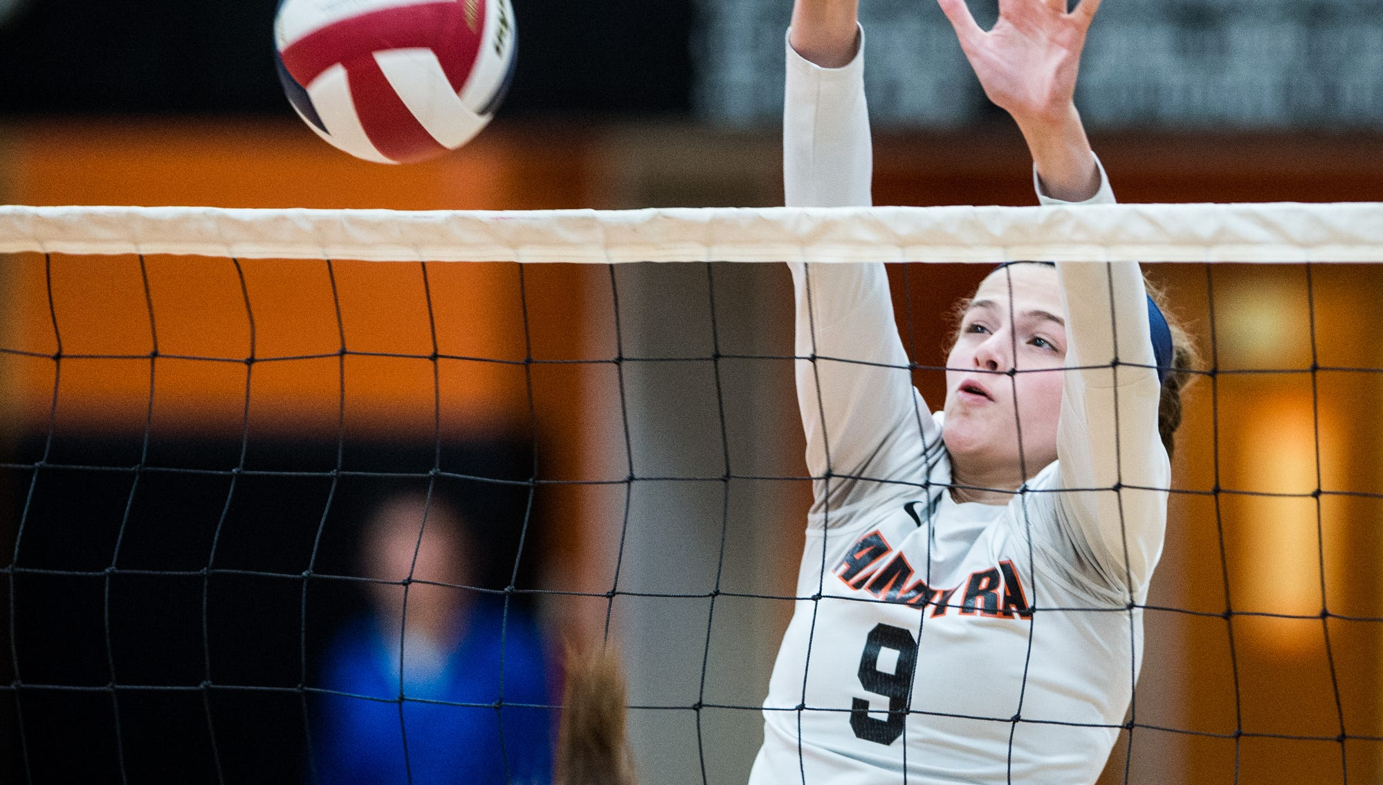 Palmyra's Taylor McInerney had 15 kills, 5 aces and 2 blocks in the Cougars' 3-0 district quarterfinal win over Fleetwood on Tuesday night.
