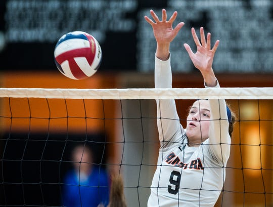 Taylor McInerney  helped the Palmyra girls volleyball team to the District 3 3A title game this fall.