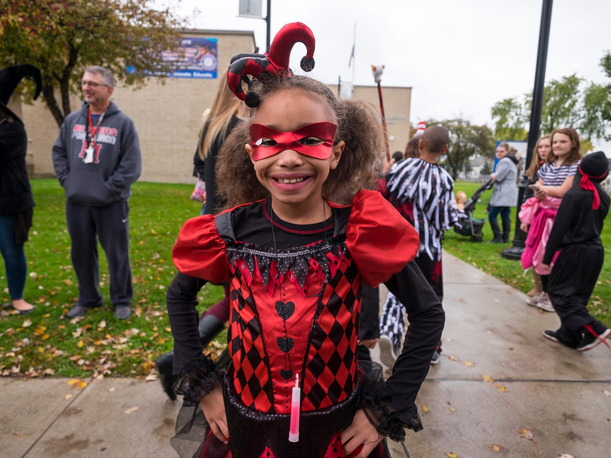 STEAM Academy at Woodrow Wilson third-grader Aumar'e Moore poses for a photo during the school's Halloween parade Wednesday, Oct. 31, 2018.