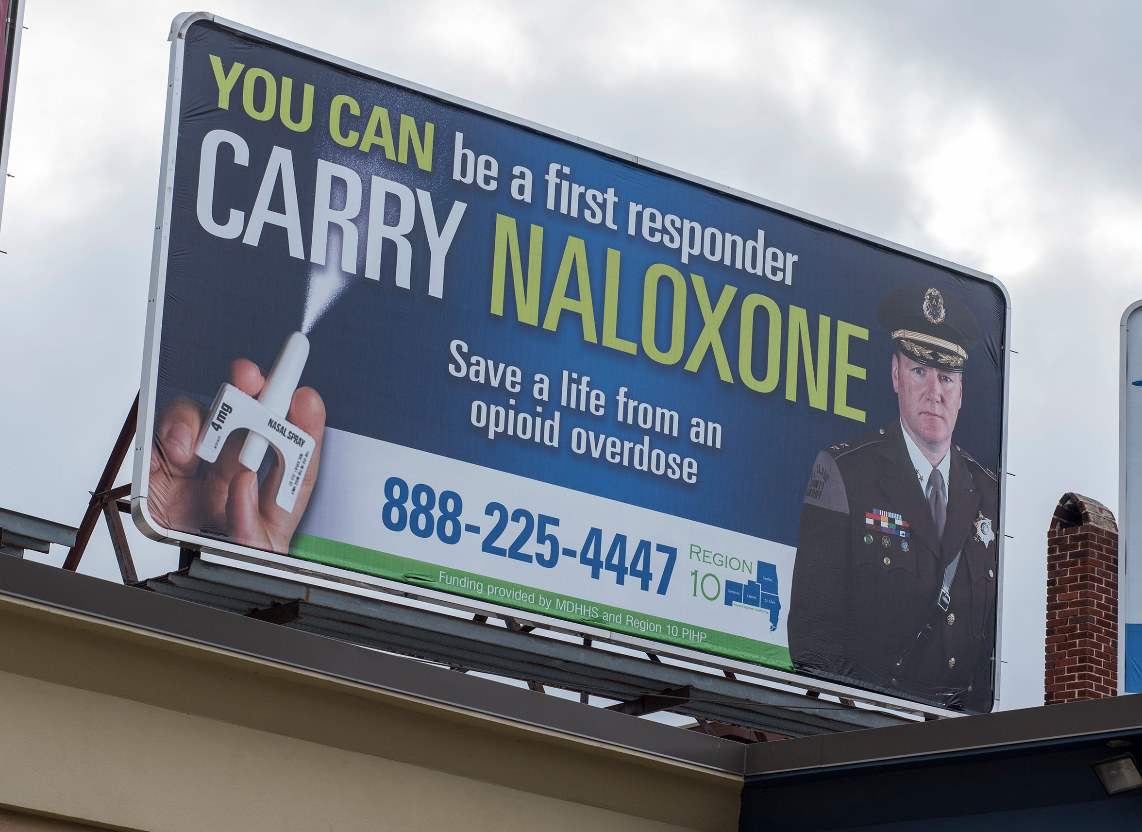 Billboards encouraging people to carry naloxone have been appearing throughout the Blue Water Area.
