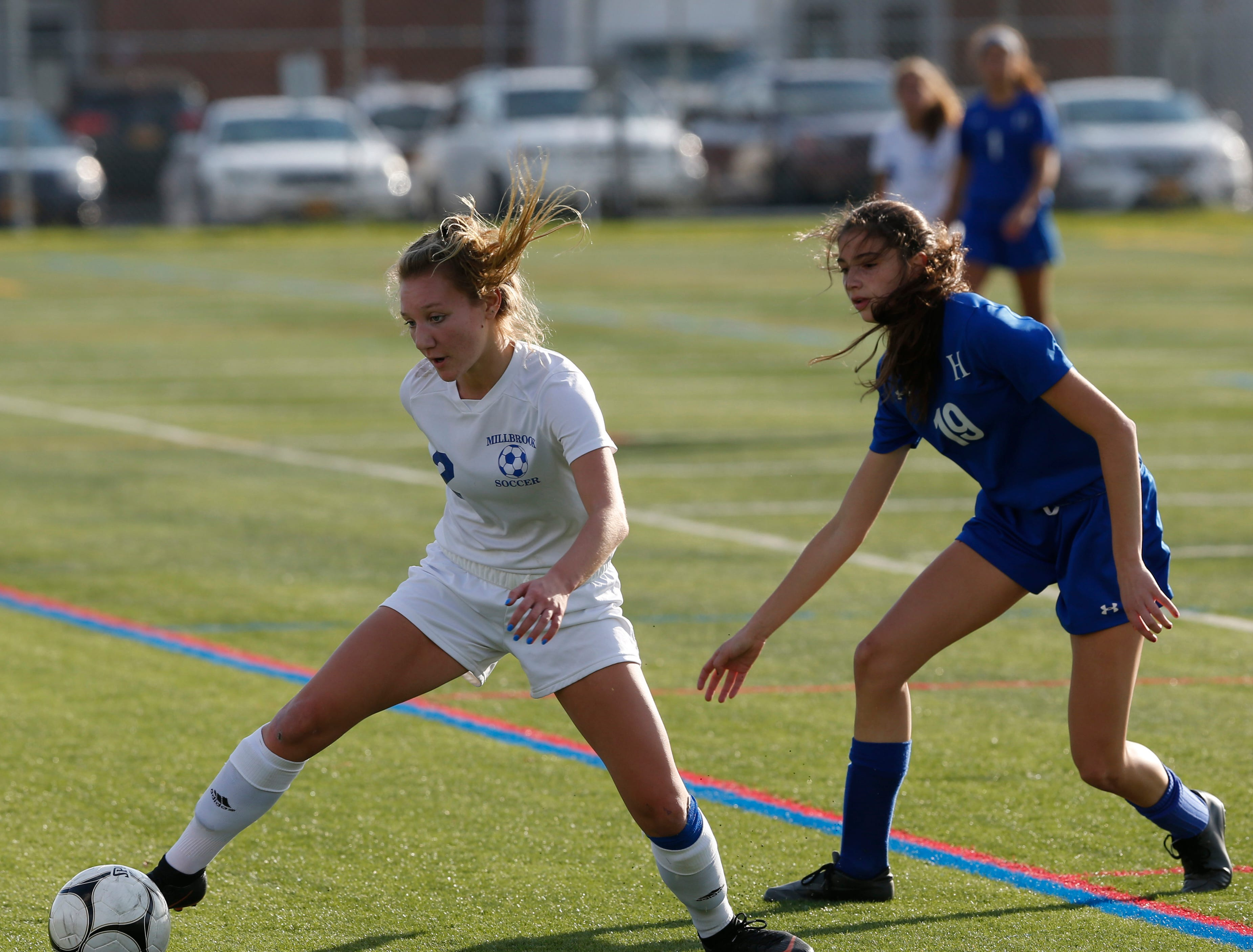 Action from Wednesday's Class C regional semifinal between Haldane and Millbrook in Freedom Plains on October 31, 2018.