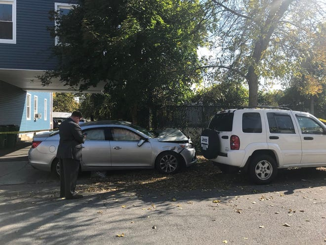 A silver Chevrolet was involved in a crash on Wednesday in the City of Poughkeepsie.
