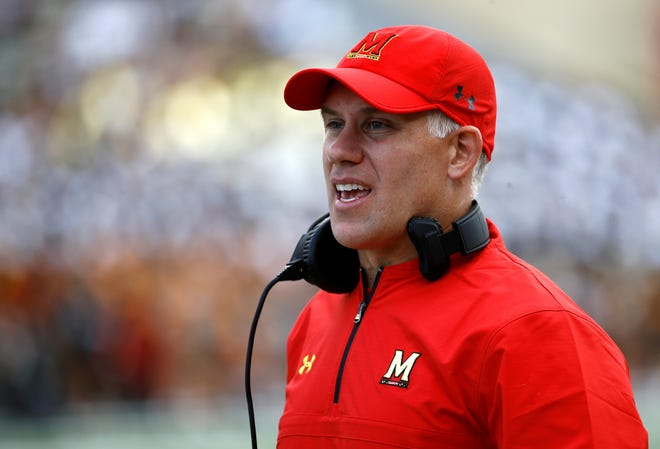 DJ Durkin reportedly continued to advise the Maryland football program through assistant coaches while on administrative leave. AP FILE PHOTO