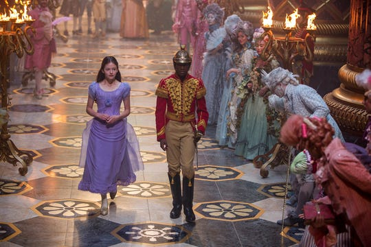 "Mackenzie Foy, left, and Jayden Fowara Knight star in ""The Nutcracker and the Four Realms."" The movie opens Nov. 2 at Regal West Manchester Stadium 13, Frank Theatres Queensgate Stadium 13 and R/C Hanover Movies."