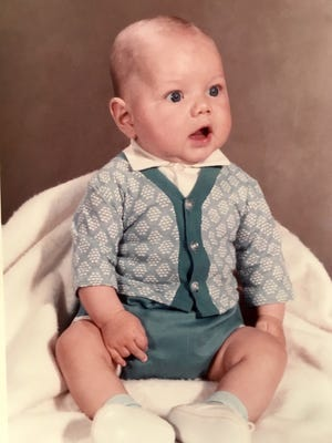 The face of an anchor baby: David Andreatta as an infant in 1975.