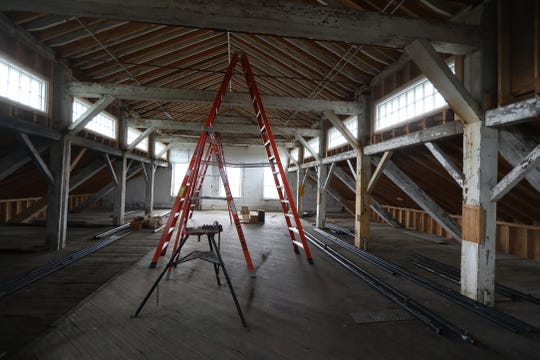 The former Seneca Knitting Mill, under renovation on Aug. 23, 2018, will house the National Women's Hall of Fame.