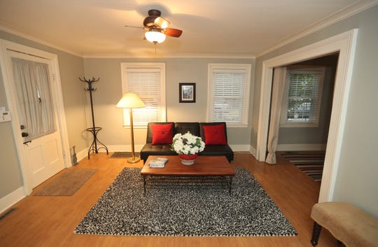 The living room has a feel of a larger house.