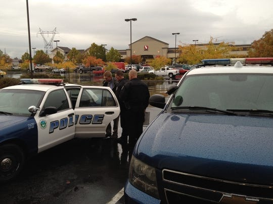 Police took one man into custody Wednesday, Oct. 31, 2012 after a stabbing at Starbucks at Cypress Avenue and Churn Creek Road.