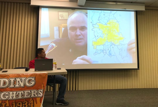 A community debriefing meeting on the Carr Fire included a video of former Redding Fire Department Chief Gerry Gray, who made the video before he died in July. In the video Gray said his department is understaffed.
