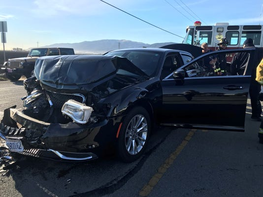 rear end crash causes traffic back up in south salinas wednesday morning