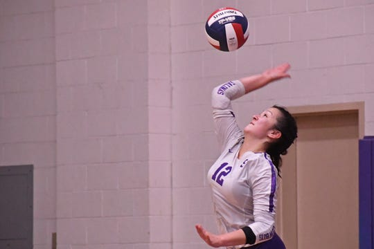 Libero Kaila Uota (12) led the Cowboys in digs per set this season and was fourth in aces.