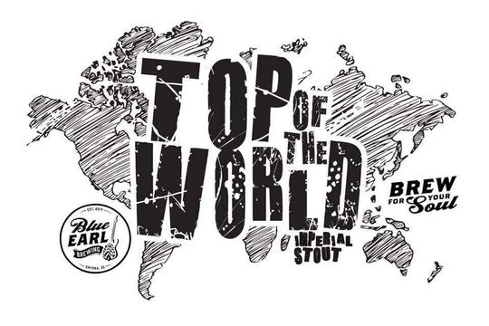 Top of the World Imperial Stout by Blue Earl Brewing Company. It'll be at the brewery and select restaurants in mid-November.
