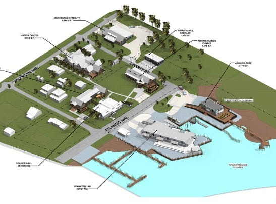 A rendering of the planned expansion and upgrade of the Virginia Institute of Marine Science Eastern Shore Lab campus in Wachapreague, Virginia.