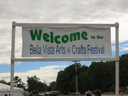 Entrance to Bella Vista Arts & Crafts Festival, Bella Vista, Ark.