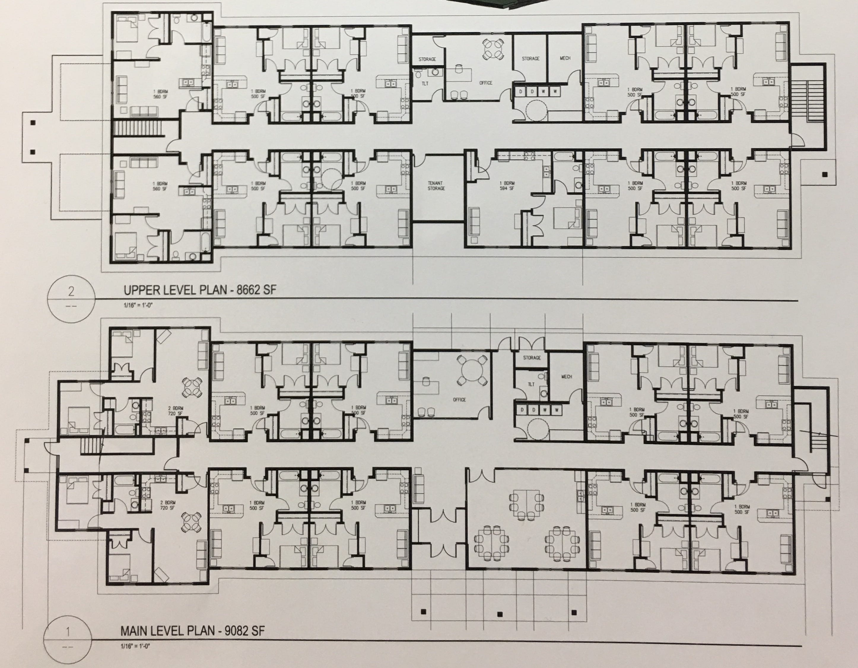 Above is an artist rendering of the floor plan for a new, 21-unit affordable housing facility for homeless youth 16-21 years old. The facility, expected to be done by early 2020, is operated by Volunteers of America.