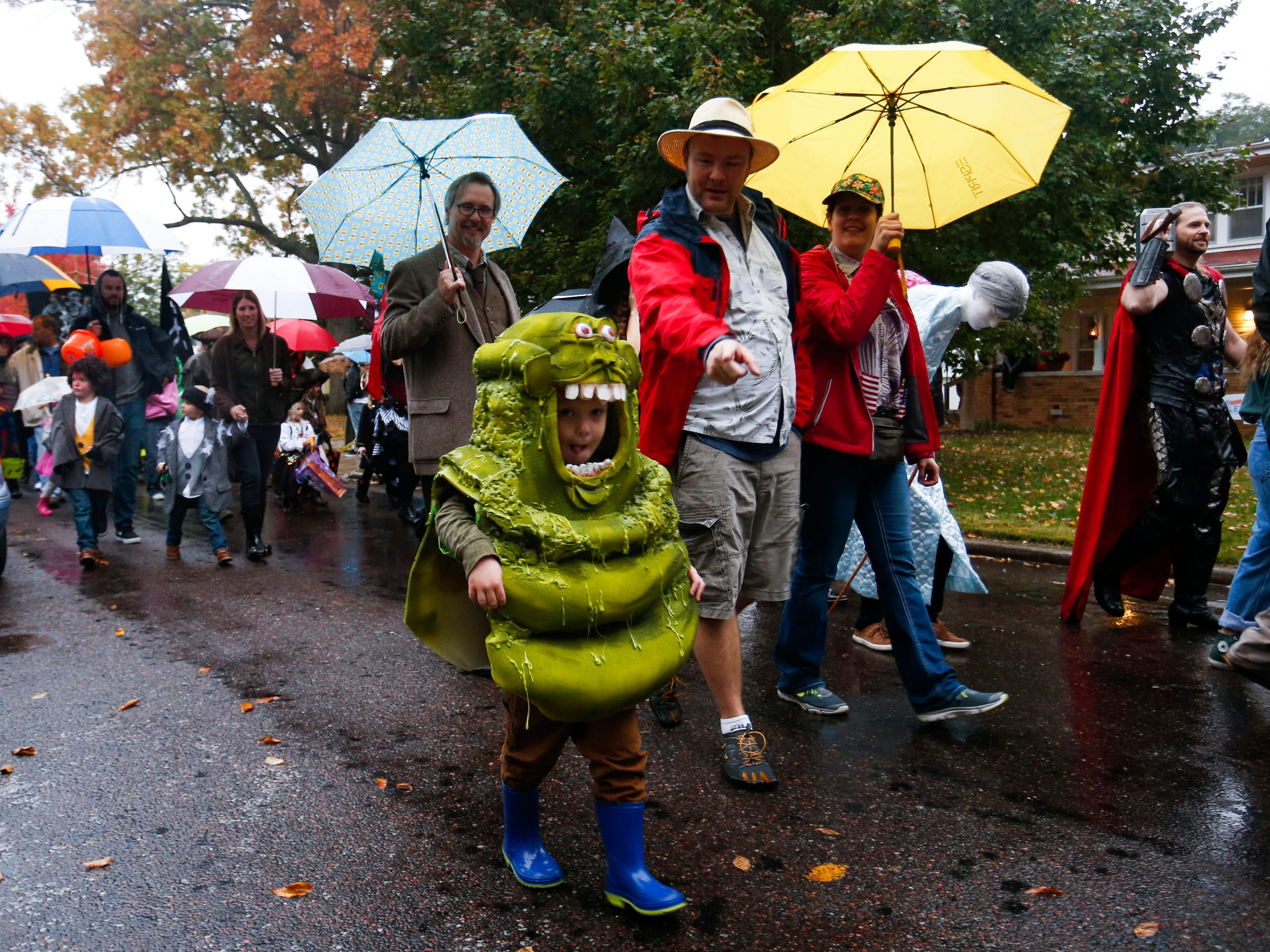 The annual Rountree Halloween parade on Wednesday, Oct. 31, 2018.