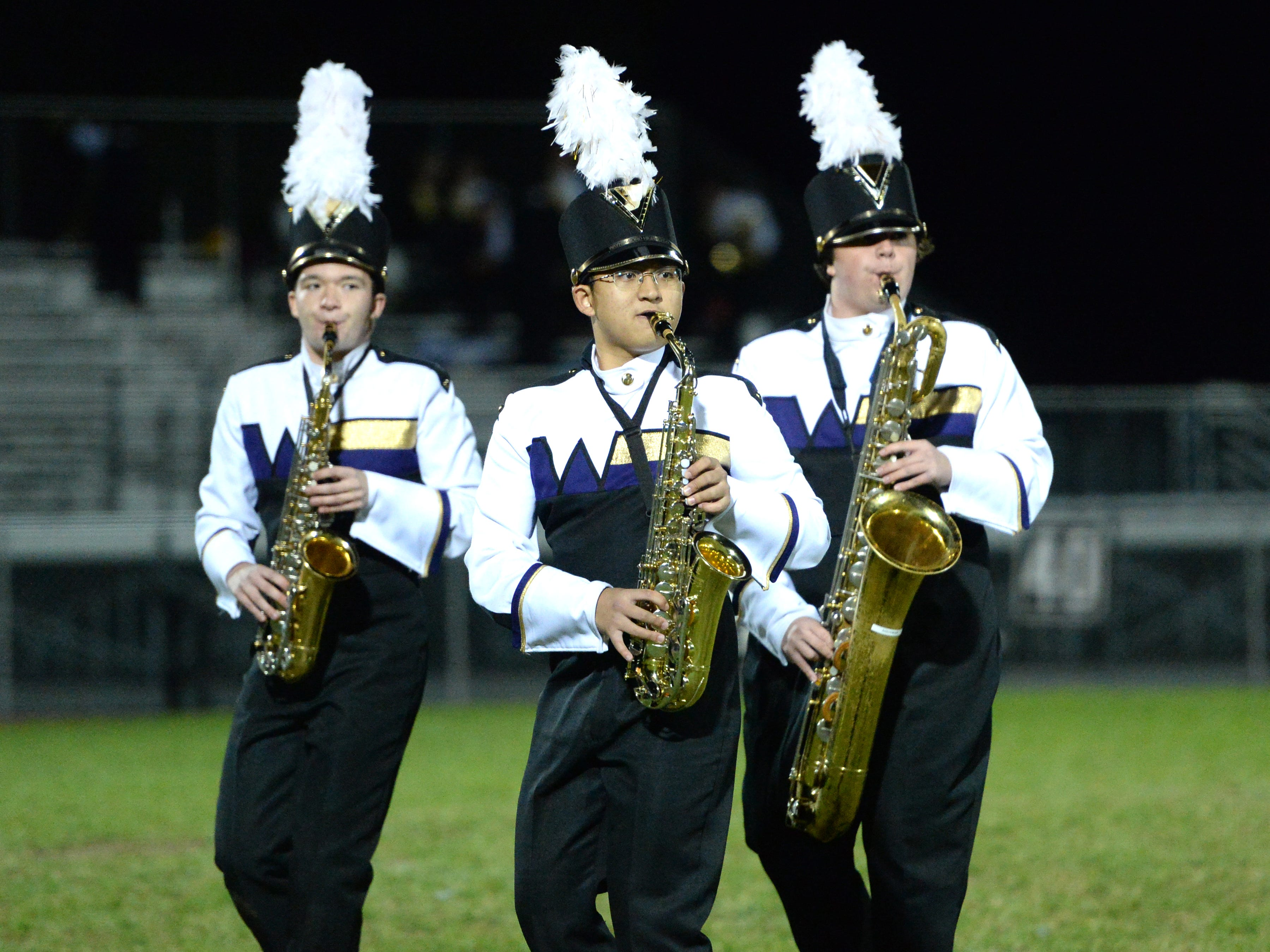 The Waynesboro High School band performs during the Valley Showcase Tuesday at Riverheads.