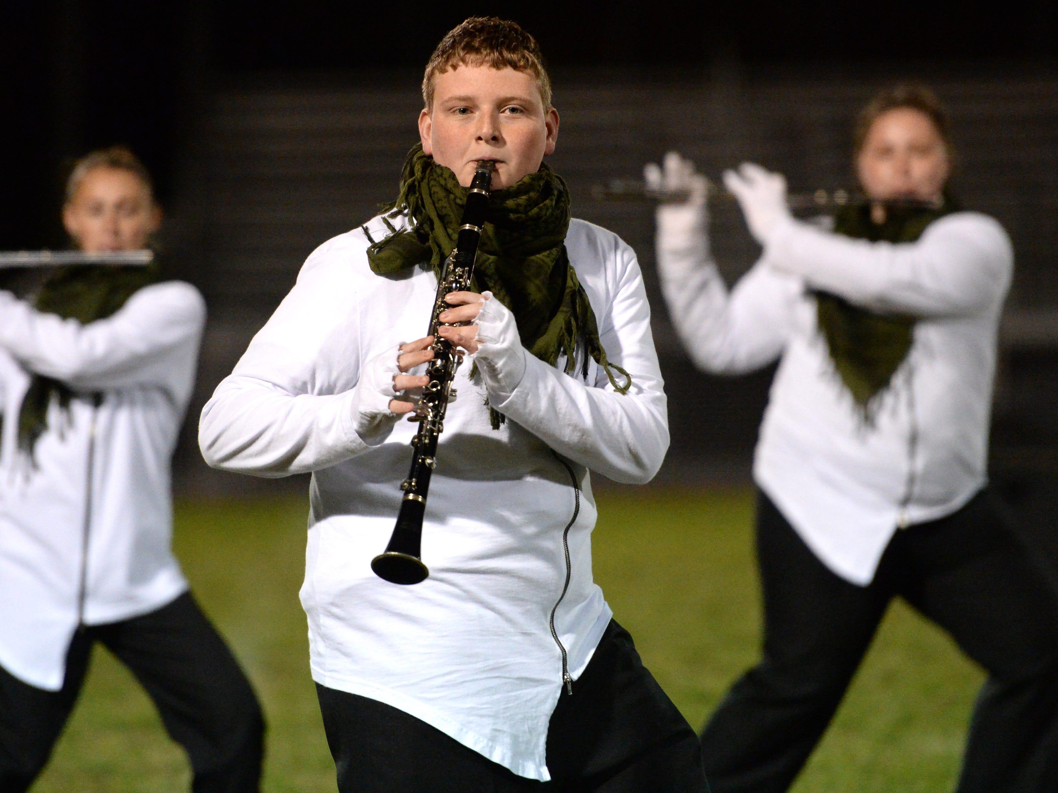 The Stuarts Draft High School band performs during the Valley Showcase Tuesday at Riverheads.