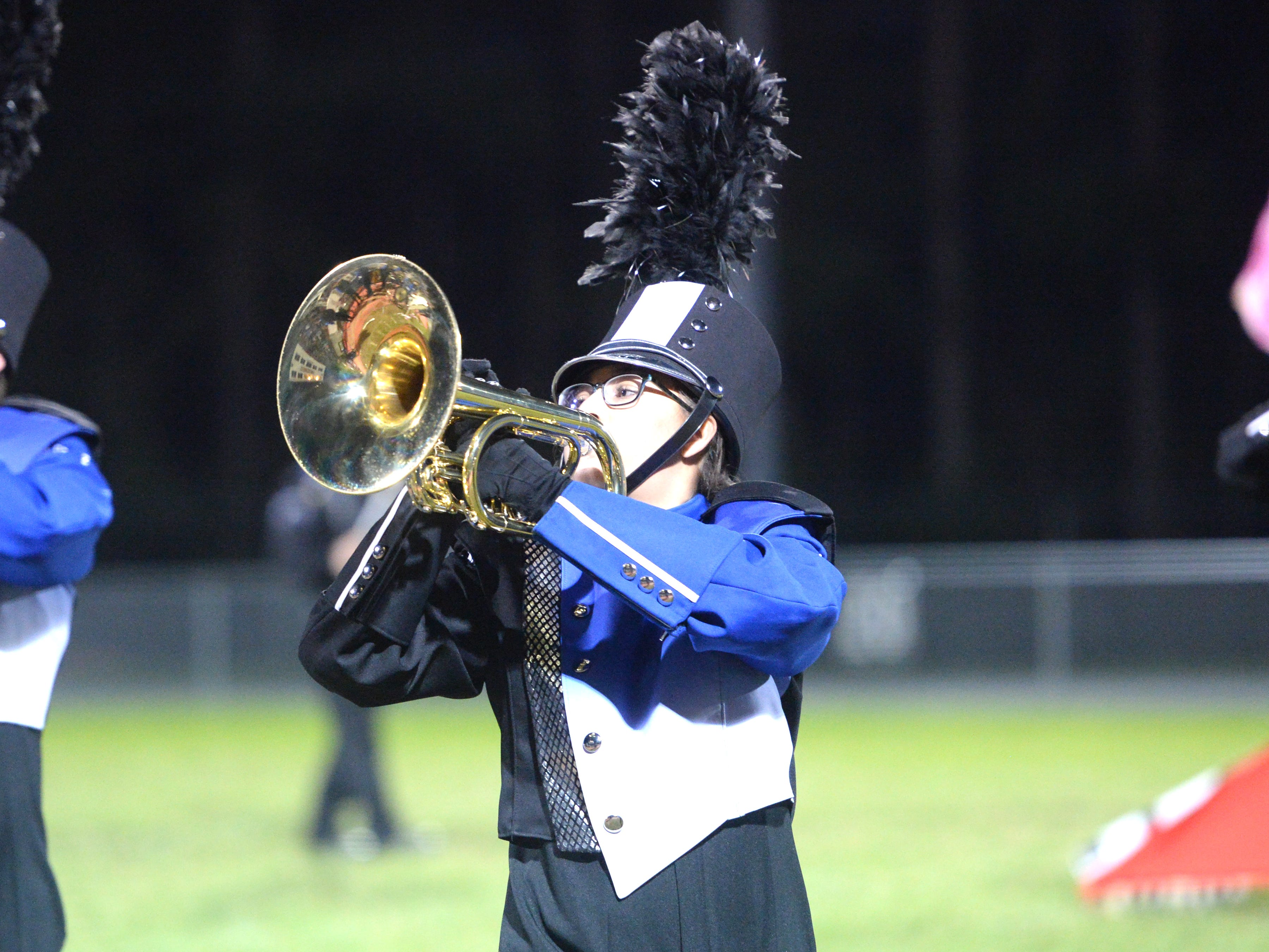 The Fort Defiance High School band performs during the Valley Showcase Tuesday at Riverheads.