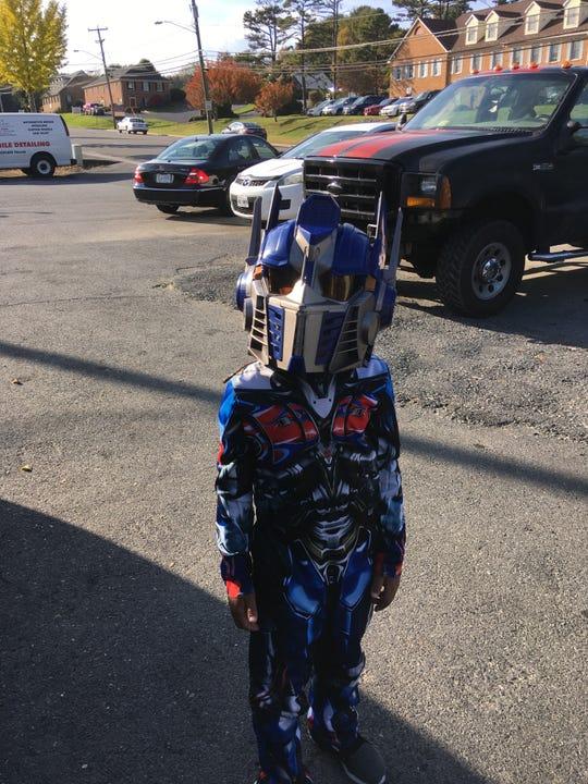 Laken Johnson, age 6, of Staunton as Optimus Prime.