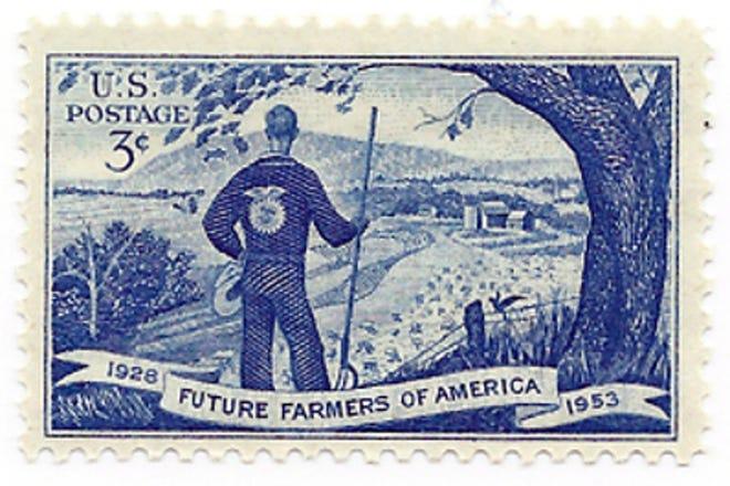 1953 FFA postage stamp.