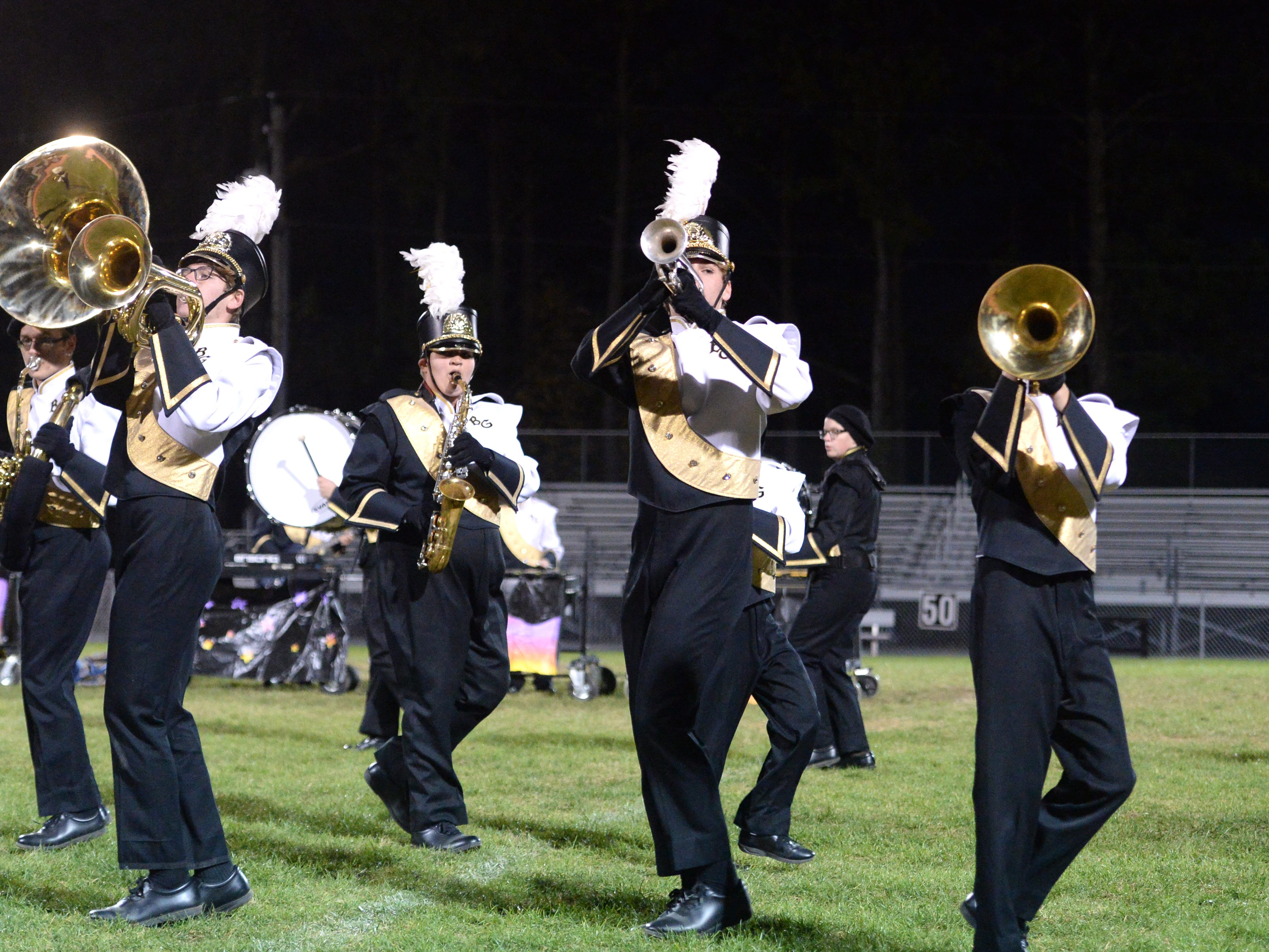The Buffalo Gap High School band performs during the Valley Showcase Tuesday at Riverheads.