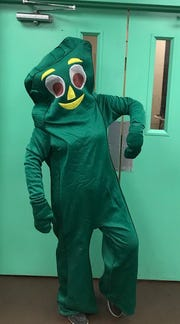 SweetNanaCakes owner Shannon Tinsley as Gumby.