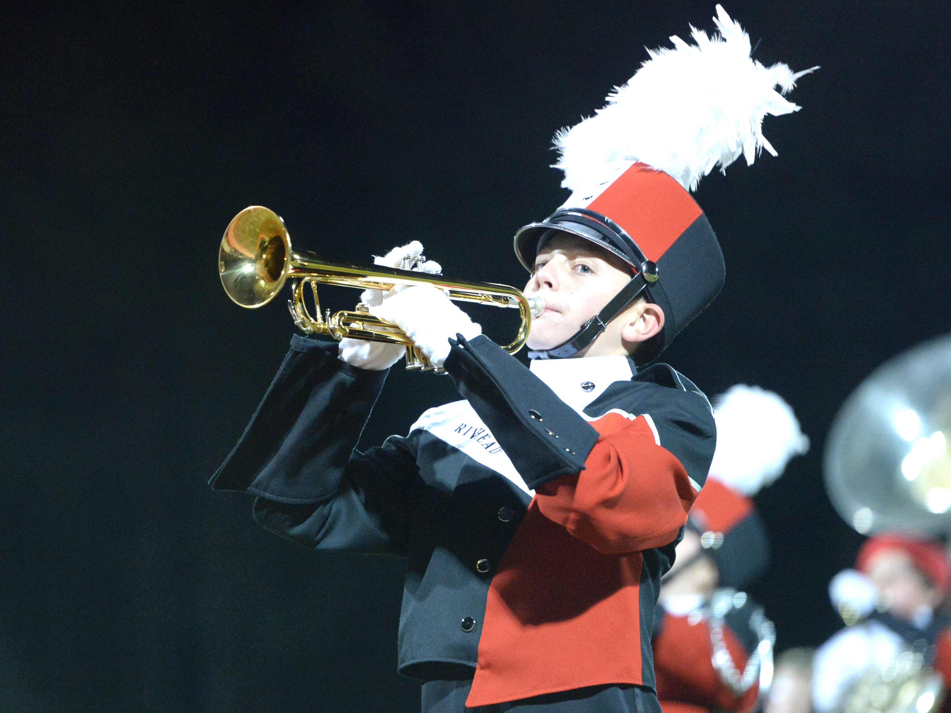 The Riverheads High School band performs during the Valley Showcase Tuesday at Riverheads.