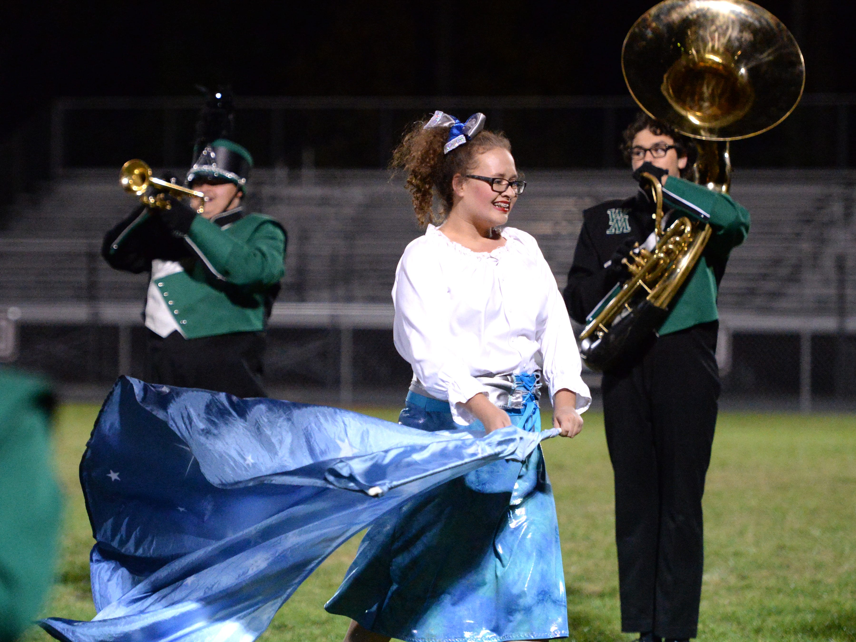 The Wilson Memorial High School band performs during the Valley Showcase Tuesday at Riverheads.