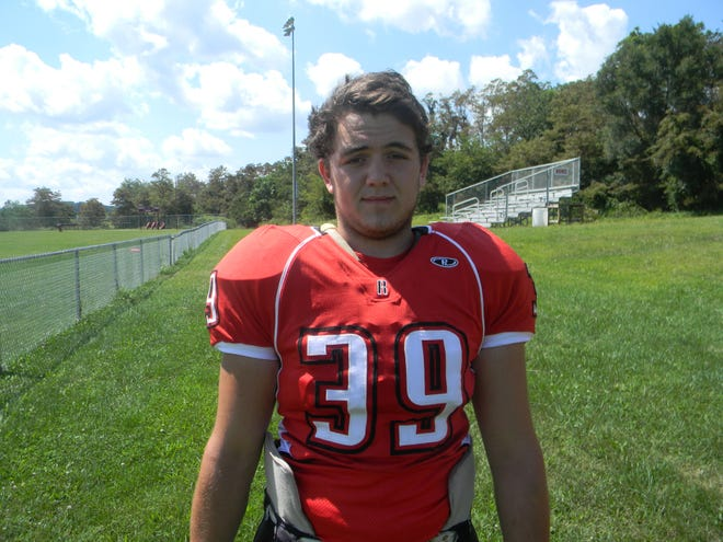 Nathan Eye played football for Riverheads. He is a 2014 graduate of the high school.