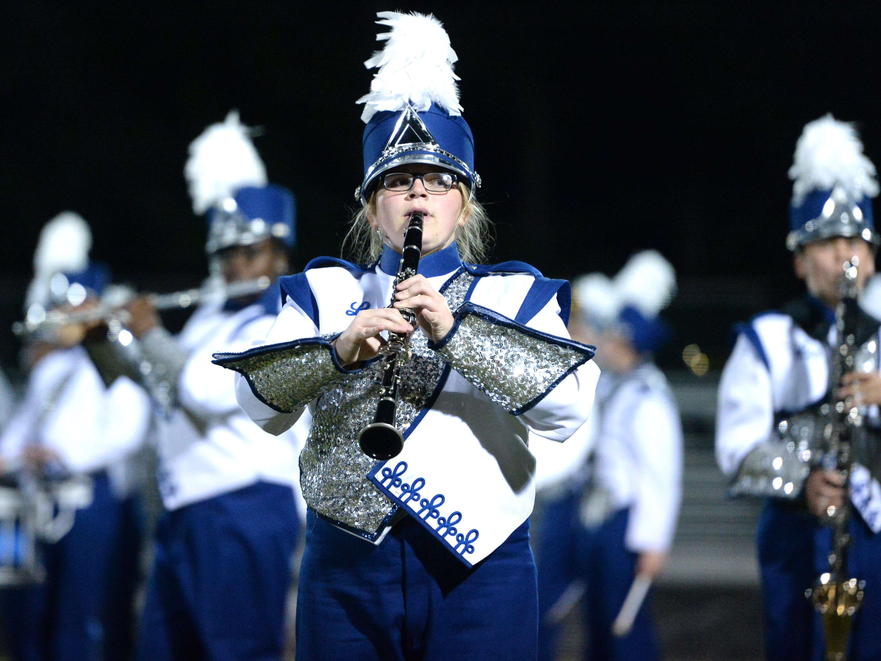 The Robert E. Lee High School band performs during the Valley Showcase Tuesday at Riverheads.