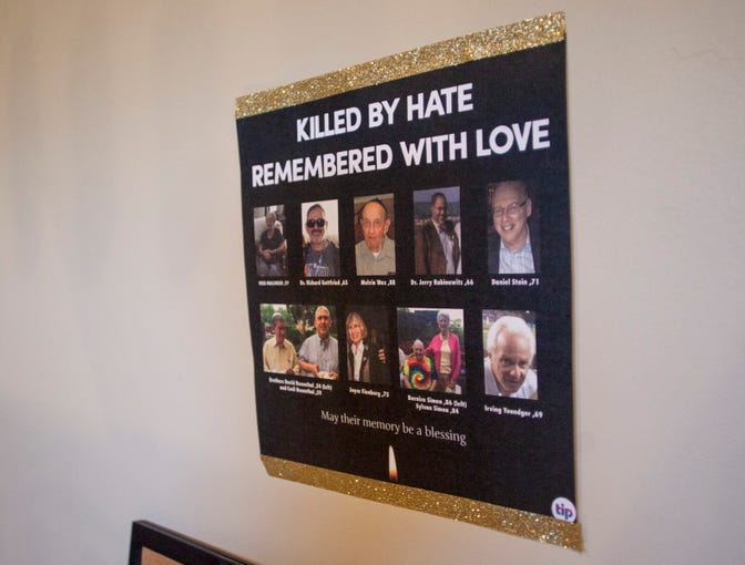 Washington County residents from various faiths gathered Tuesday at the home of Rabbi Mendy Cohen, director of Chabad of St. George, for a candlelight vigil Tuesday in honor of the 11 people killed at a Jewish synagogue in Pittsburgh on Oct. 27.