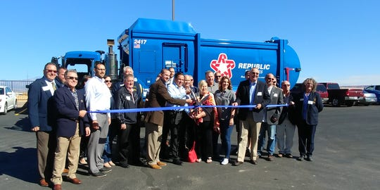 Elected officials from St. George and Washington County joined a ribbon-cutting Tuesday marking the opening of a new Republic Services facility.