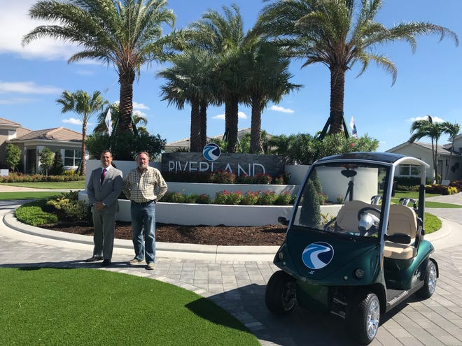 Ryan Courson (left) and  Glenn Ryals are vice presidents with GL Homes of Sunrise, Florida.