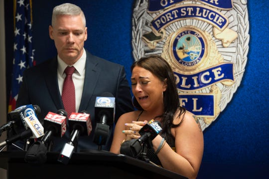 """My daughter is filled with life and love, she loves to sing and dance,"" said the emotional mother of Preslie, 3, during a news conference Wednesday, Oct. 31, 2018 at the Port St. Lucie Police Department. Preslie, who was shot early Sunday in Port St. Lucie, is now in a medically induced coma, instead of trick or treating as Ariel, said her mother. The shooting was apparently the result of a road rage incident and the police department is still looking for the suspect, who was driving a silver sedan, possibly a BMW. ""They think they're working under this cloud of darkness, under this shadow,"" said Sgt. Joe Norkus."