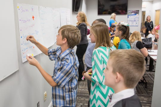 The students learned how the city creates and updates its strategic plan during the Oct. 23 field trip.