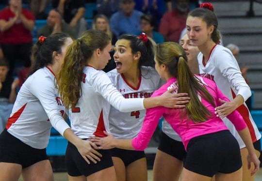 South Fork's volleyball team defeated Jensen Beach in straight sets last week to move within one win of its second Final Four appearnce in three seasons. The Bulldogs play Tuesday at Miami-St. Brendan for the Reigon 4-7A tilte.