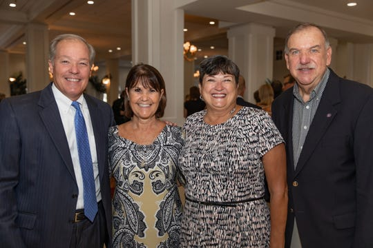 2018-2019 United Way Campaign Co-Chairs Kip and Mary Jacoby, left, with Marge and Randy Riley.
