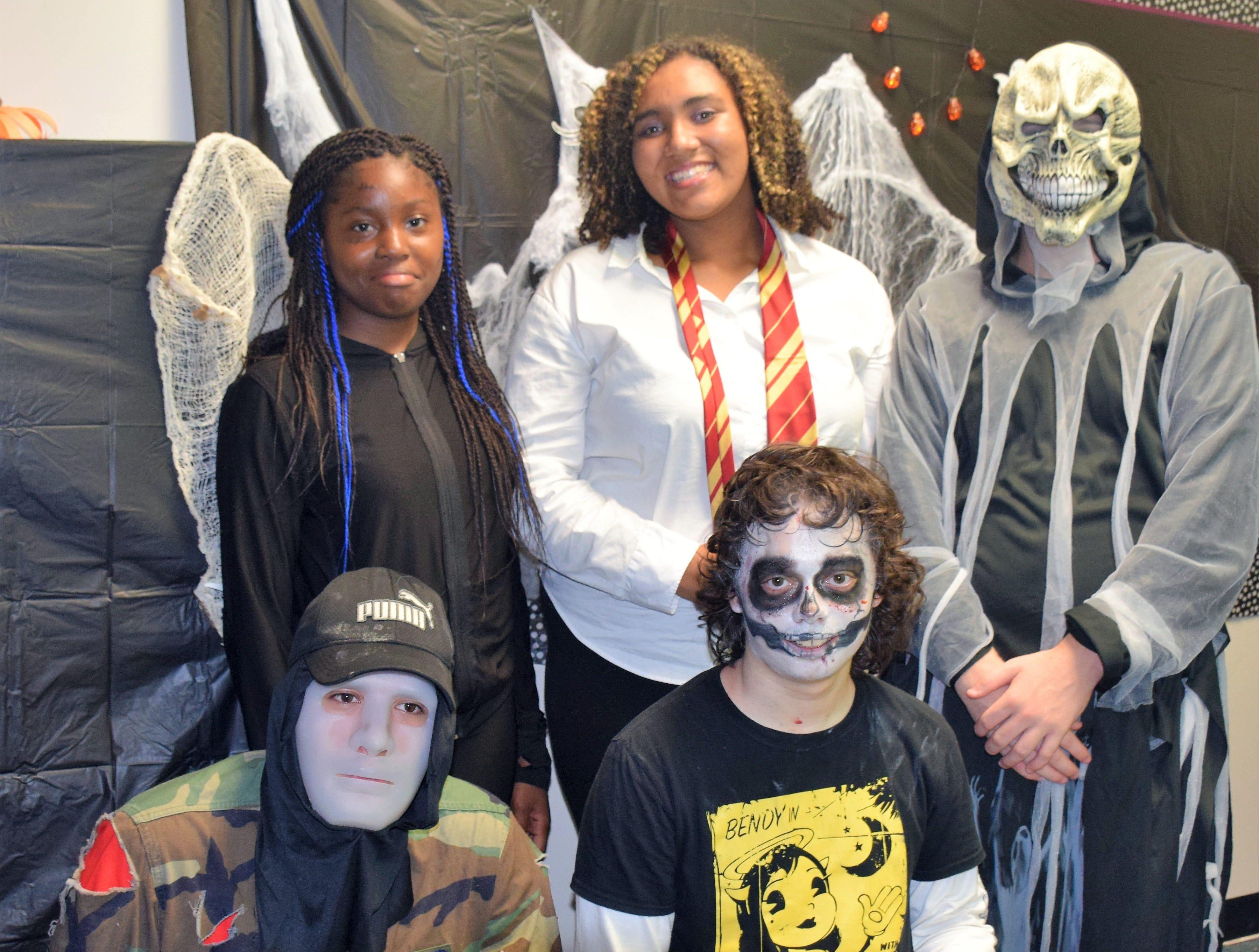 Pathfinders Marlaja, 15; Kami, 16; Kayla, 17; Mario, 13 and Deran, 15.