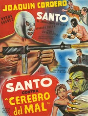 Fans of El Santo, the silver masked luchador, can see the restored version of his first film Thursday at the Plaza Theatre.