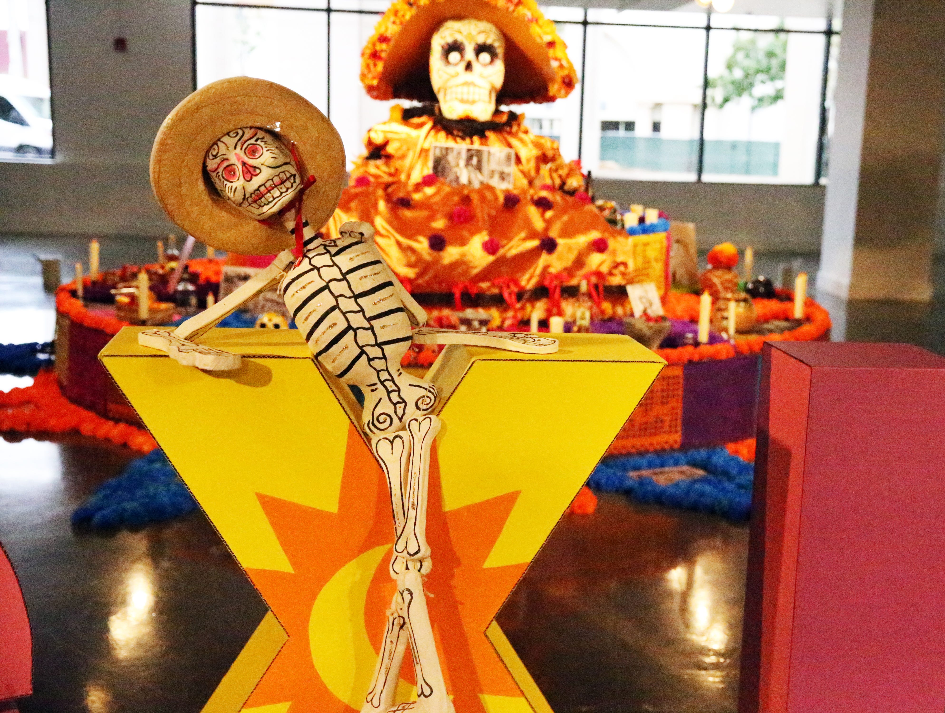 Part of the Day of the Dead altar at the El Paso Museum of Art.