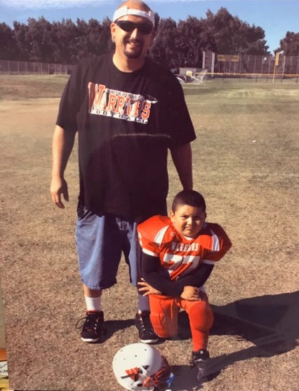 With the urging of his father Luis, Pacifica High senior Armando Sifuentes started playing football at the age of 5 with the North Oxnard Warriors.