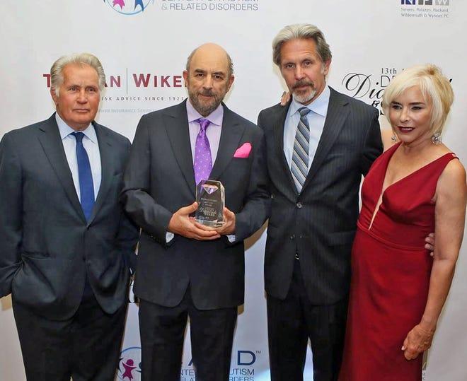 Martin Sheen, Richard Schiff, Gary Cole and Nancy Alspaugh Jackson are shown at the Denim, Diamonds & Stars gala.