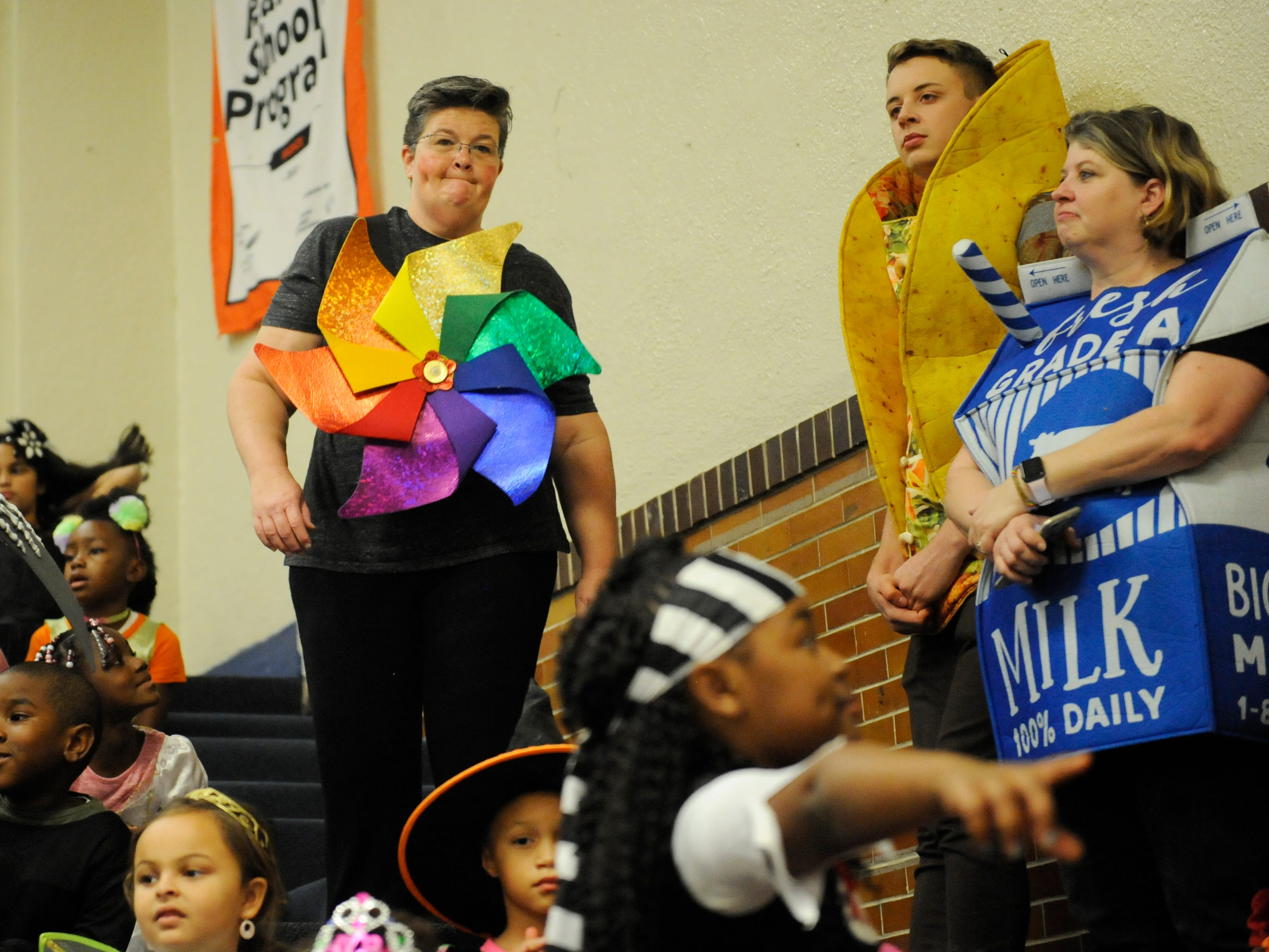 Students at R.M. Bacon Elementary in Millville celebrated Halloween with a special costume parade in the school's gymnasium on Wednesday, October 31, 2018.