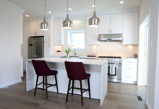 The kitchen in one of the units at Maple Avenue Residences in New Rochelle Oct. 31, 2018. Maple Avenue Residences is a six-unit condominium complex that offers the amenities of single-family living.