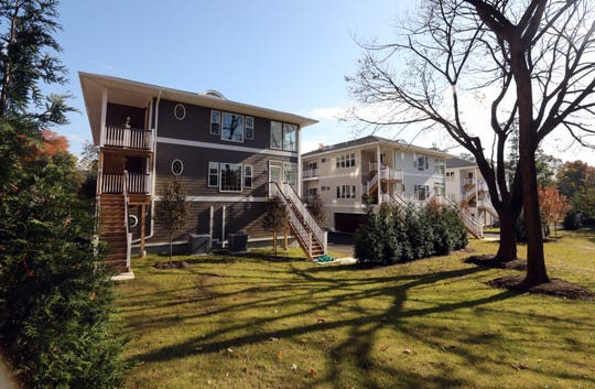 Looking at the back of the Maple Avenue Residences from the yard Oct. 31, 2018 in New Rochelle. Maple Avenue Residences is a six-unit condominium complex that offers the amenities of single-family living.