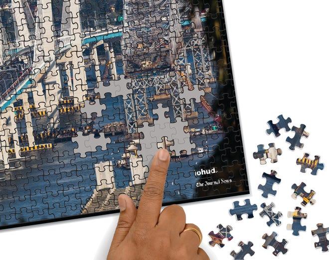 A 1,000-piece puzzle allows you to build the bridge across the Hudson
