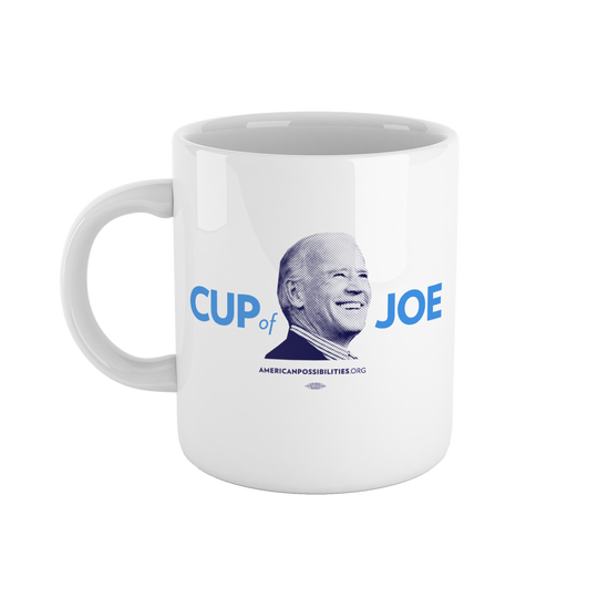 "Joe Biden's Super PAC store sells a handful of items, including a ""Cup of Joe"" coffee mug."