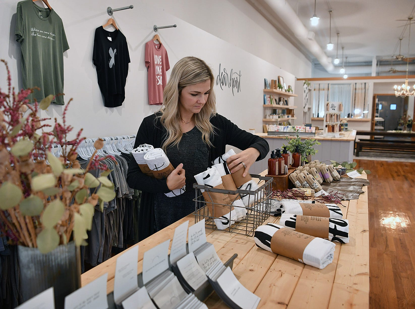 Dear Heart owner Nichole Kirk in her first store located in Henrietta. Her second location, Ruth & Esther, opened in Wichita Falls in August.
